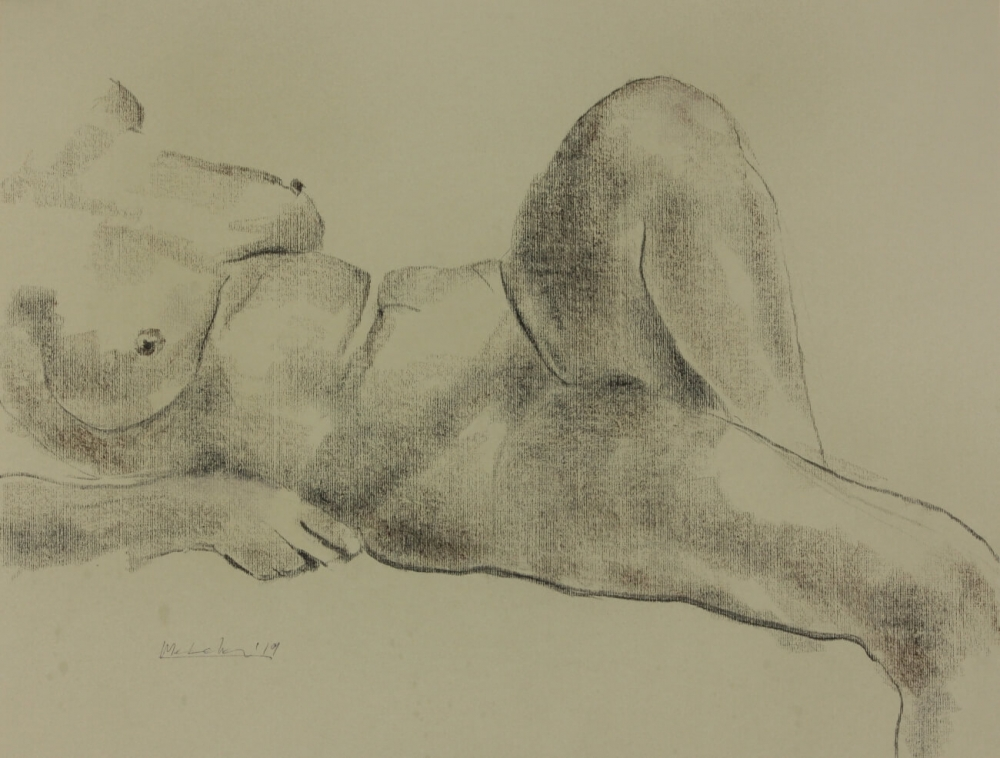 Female nude drawings by Olaf Melcher inspired by ancient Greek sculptures of the river goddess. Chalk and oil pastels on paper. Dessins de nus féminins d'Olaf Melcher inspirés par des sculptures de la déesse-fleuve de la Grèce antique. Craies et pastel à l'huile sur papier. Zeichnungen von Frauenakten ausgeführt von Olaf Melcher nach antiken Skulpturen der Flussgöttin. Kreide und Ölpastel auf Papier. 2018, 2019.